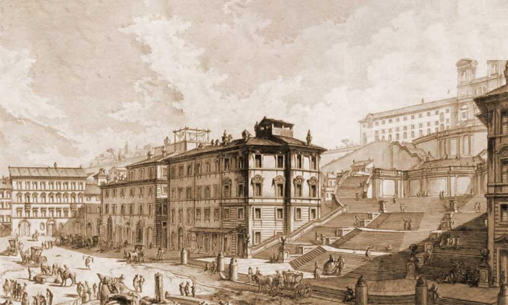 roma piazza di spagna ieri e oggi (